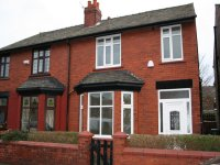 Externior of semi detached house in the stockport area of Cheadle Edgeley available for house sharing