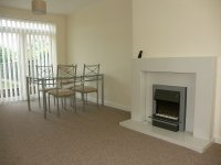 Modern Lounge and dining area in long term rental in Cheadle Hulme