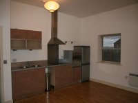 Kitchen in a converted mill house, 1 bedroom apartment for rent in Marsh, Huddersfield