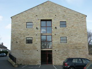 Exterior view of 1 bedroom mill conversion available for rent in Marsh, Huddersfield