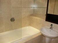 Modern Bathroom with shower for long term or short term rental in Lindley, Huddersfield